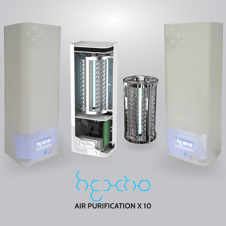 Hextio Air Purification X 10 | Home & Work Air Purifier and Steriliser – Radic8